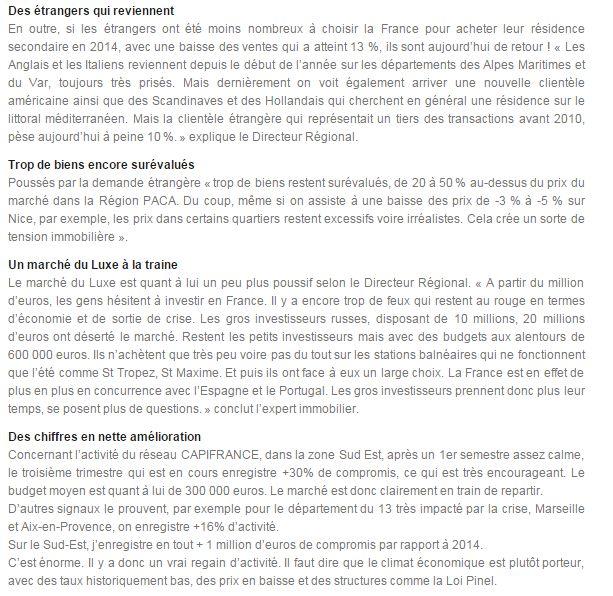 Explications sur les investisseurs #immobilier avec Michel Rey-Robert, Directeur Régional Sud-Est chez CAPIFRANCE. Partie 3