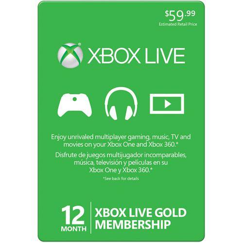 12 Month Xbox Live Gold Membership (Xbox 360 / Xbox One): Accessories : Walmart.com