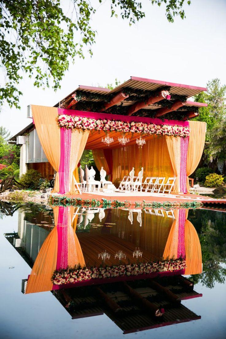Indian Outdoor Wedding - Vandana and Atit #indianwedding #outdoorwedding #indianweddingdecor