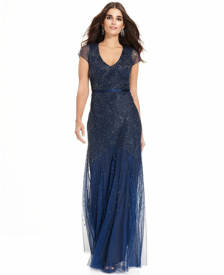 205 best Adrianna Papell Embellished Gowns images on Pinterest ...
