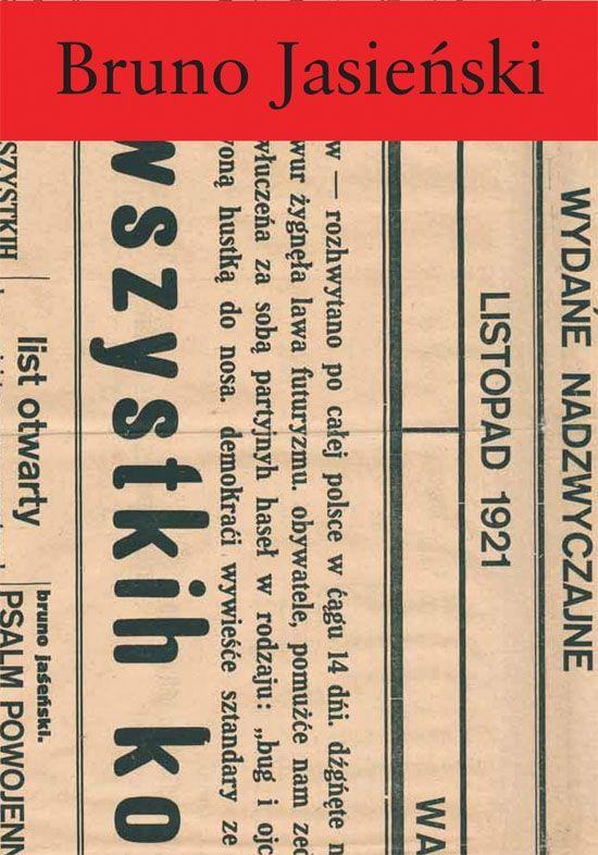 """""""Bruno Jasieński był bez wątpienia jednym z najbardziej oryginalnych poetów polskich wieku XX, a zarazem nieprzeniknioną osobowością twórczą; mistrzem autokreacji, który swą prawdziwa naturę ukrywał za licznymi maskami – dandysa, futurysty, rewolucjonisty. Książka jest zbiorem wszystkich utworów poetyckich Jasieńskiego pisanych w języku polskim."""""""