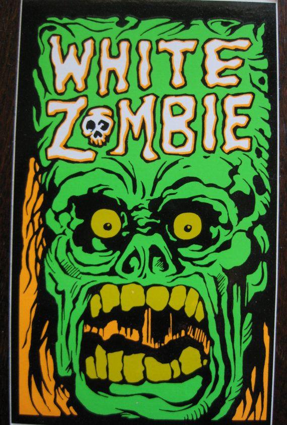 Vintage White Zombie Promo Concert Tour Sticker Poster lp via Etsy