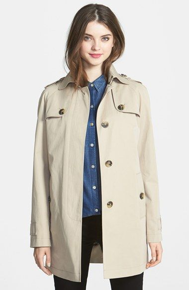 London Fog A-Line Raincoat (Online Only) #Clothes #Shopping #LondonFog