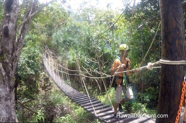 Kualoa Zipline includes 7 zip lines and 2 suspension bridges. #Oahu #Hawaii