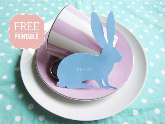 Can't remember if I pinned these already...Easter Parties, Easter Cards, Easter Bunnies, Bunnies Printables, Easter Printables, Names Cards, Places Cards, Easter Brunches, Free Printables