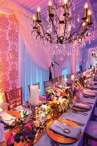 Marie Antoinette inspired reception