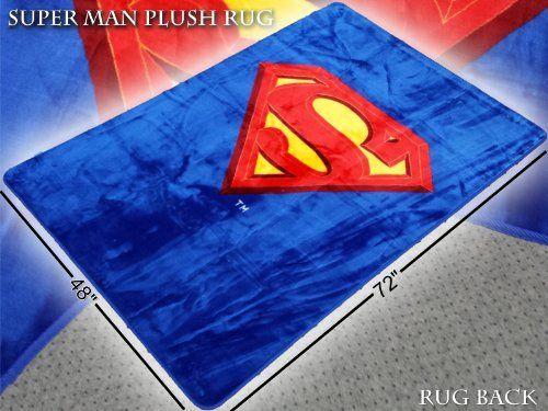 Superman Stuff - Superman 6 feet x 4 feet Area Rug, $49.95 (http://www.supermanstuff.com/superman-6-feet-x-4-feet-area-rug/)