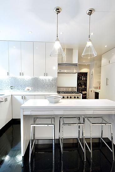 Christina Murphy Interiors - kitchens - lucite stools, lucite barstools, lucite…