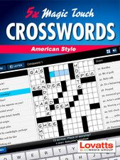 A sampling of 5 quality interactive crosswords in the distinctive North American style.This interactive book is packed with original features, including a handy Clue Bar which displays intersecting clues for easy reference. The Toggle Button allows you to navigate effortlessly between 'Across' and 'Down' and the Auto-Check function is a useful tool for highlighting letters entered incorrectly.  https://itunes.apple.com/au/book/magic-touch-crosswords-american/id575749983?mt=11