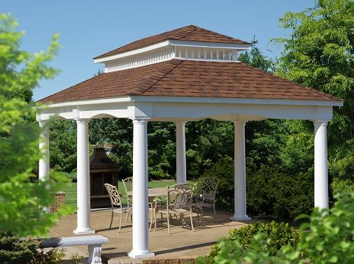 12x20 Victoria Pavilion, White Vinyl With Classic Roof (Berlin Gardens) For  Free Estimates