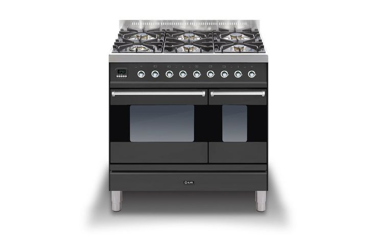 <p> ILVE Moderna 90cm Twin Oven Dual Fuel Range Cooker in Black</p> <p> This Moderna dual fuel 90cm range cooker offersall quality and functionality you would expect from an ILVE range cooker. Available in two colours and with your choice of two hotplate configurations, the 900mm range cooker also includes a multifunction oven, and smallerauxiliary%...