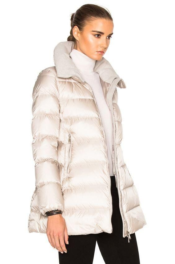 Moncler Torcyn Jacket in Beige   FWRD#Coat  #moncler #womanjacket #blackjackets #monclerwoman #womanfashion