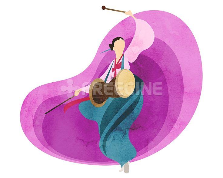 사람, 여자, 여성, 라이프, 문화, 한국, 생활, 춤, 무용, 일러스트, freegine, 전통, illust, 한복, 장구, 장구춤, 문화재, 캐릭터, 한국전통, 1인, 에프지아이, FGI, SPAI129, SPAI129_004, 한국전통004 #유토이미지 #프리진 #utoimage #freegine 19376346