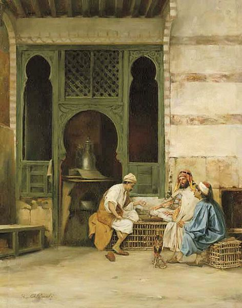 Stanislaw Chlebowski - Chess Players. Polish painter with Russian and Turkish connections. He was a renowned specialist in oriental themes.