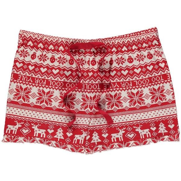 Christmas Fairisle-Print Pyjama Shorts Women George at Asda ($2.62) ❤ liked on Polyvore featuring intimates, sleepwear, pajamas, shorts, bottoms, bottoms - shorts, christmas pjs, christmas pyjamas, christmas pajamas and fair isle pajamas