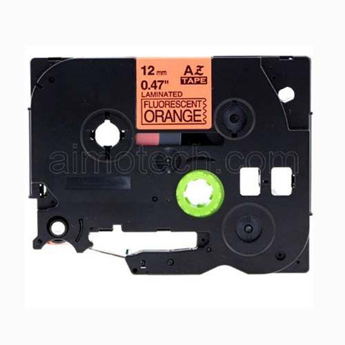 "Brother TZe-B31 12mm (0.5"") Fluorescent Black on Orange Compatible Label Tape"