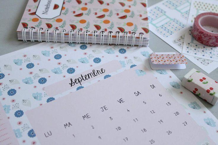 YEP - Calendrier septembre 2015 par Emmanuelle du blog Avec ses 10 petits doigts. Tous les autres mois de l'année également disponibles.