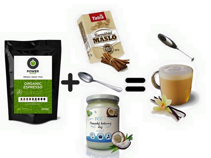 Nedávno sa ma mnohí z vas pýtali ci pijem kávu a teda akú. Moja odpoved je jednoznačne Power Coffee. Ak este nepoznáte cely koncept kávy ktora vas nabudi a podporí nielen fyzicky ale aj mentálny výkon, je načase aby ste ocheckovali www.powercoffee.sk Najlepsie funguje v kombinacii s maslom kokosovým alebo klasickým a ja si ju este zvyknem posypať škoricou alebo neprazenym kakaom (wink)
