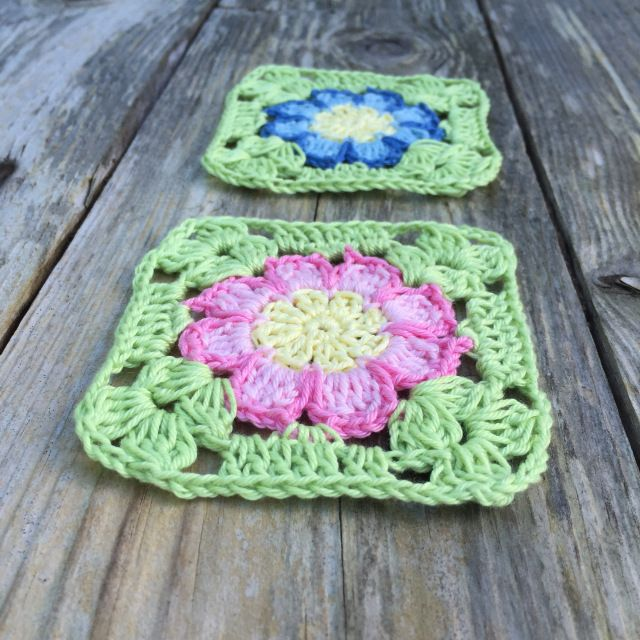 Dahlia flower square | Crochet Millan