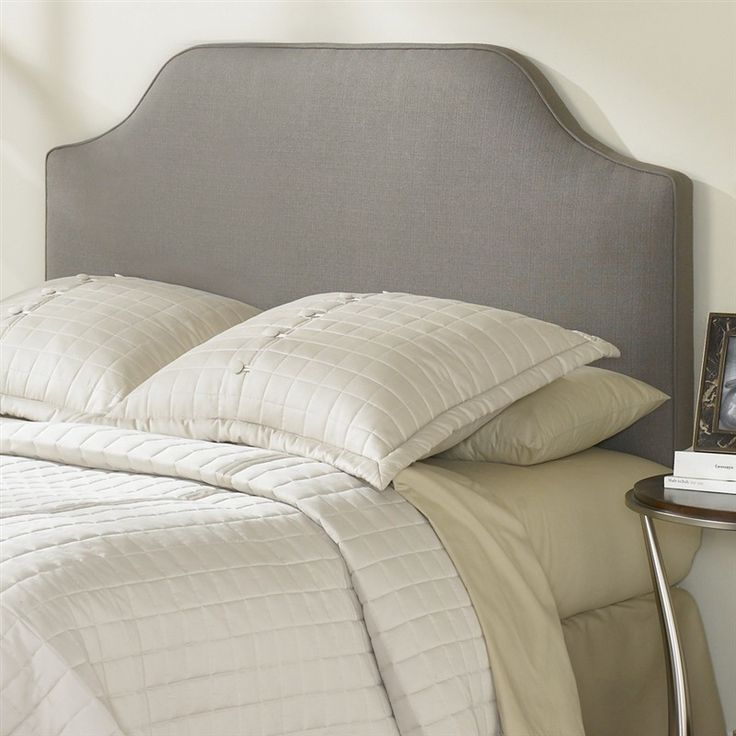 King-size Upholstered Headboard in Dolphin Grey Taupe Polyester