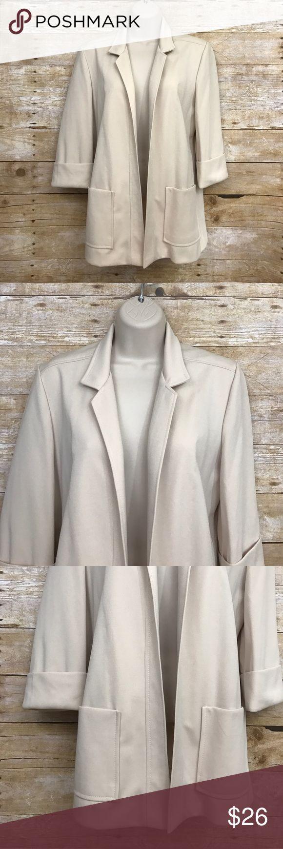 Vintage Devon Cream Dress Blazer - Dress Coat 10 Devon Vintage Brand - Size 10 - cream color - dress cardigan blazer w/ pockets - light thin shoulder pads - excellent condition - please see photos for measurements -                 💥FAST SHIPPING💥 Devon Jackets & Coats Blazers