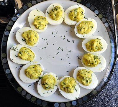 Lemon Dill Deviled Eggs   Eat, Drink, & Be Merry   Pinterest