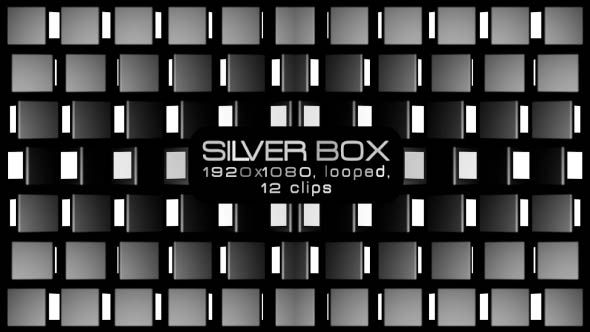 Silver Box Video Animation | 12 clips | Full HD 1920×1080 | Looped | Photo JPEG | Can use for VJ, club, music perfomance, party, concert, presentation | #black #disco #dynamic #edm #fast #loop #monochrome #moving #music #shape #stripes #techno #trap #vj #white