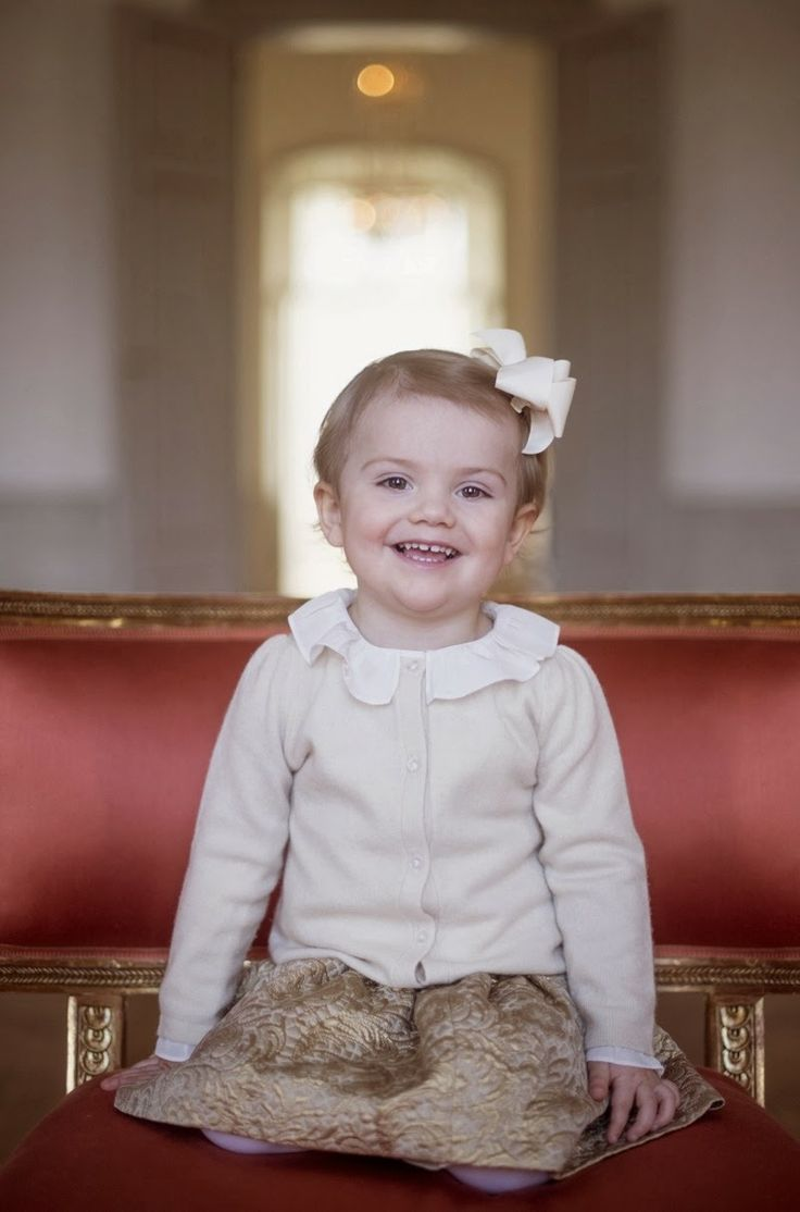 Her Royal Highness Princess Estelle of Sweden, Duchess of Östergötland. Princess Estelle Silvia Ewa Mary was born on February 23, 2012. She is the first child of Crown Princess Victoria and Prince Daniel and the oldest grandchild of the King and Queen.