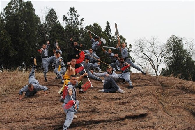 We are a traditional Shaolin Kung Fu academy, teaching students from around the world in all different styles of Chinese Kungfu.Shaolin Kung Fu, Sanda (Sanshou), Qigong, wudang Kung fu, qinna, Tai Chi, Xingyi, Bagua, Baji, Wing Chun, Mantis Forms.  http://www.chinashaolinskungfu.com/