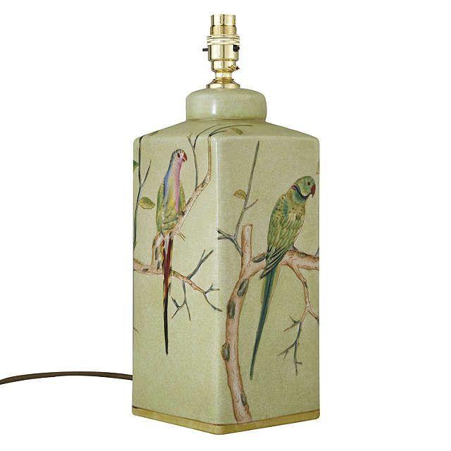 BuyIndia Jane Parrot Ceramic Lamp Base, Green Online at johnlewis.com
