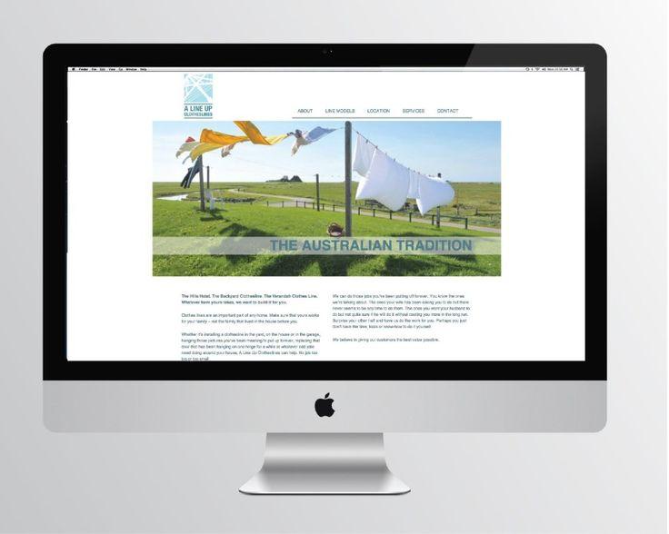 A Line Up clothesline installation service website design by Emma Wright