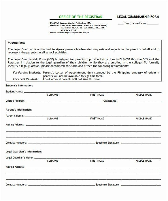 Free Temporary Guardianship Form Luxury Sample Temporary Guardianship Form 8 Download Documents Guardianship Legal Guardianship Doctors Note Template