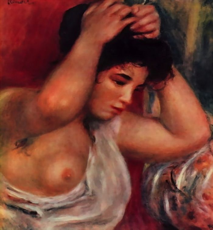 The Young Woman Hairdressing Pierre Auguste Renoir