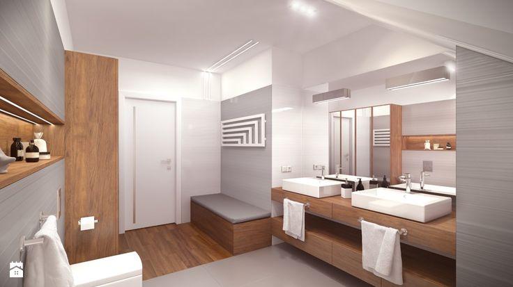 nowoczesna łazienka pod skosem - Szukaj w Google