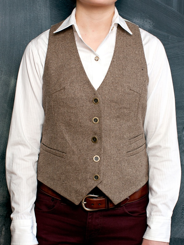 The vest obsession continues.