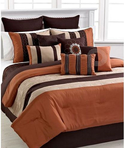 rust color comforter sets | Details about ELSTON - Spice 12 Piece King Comforter Set