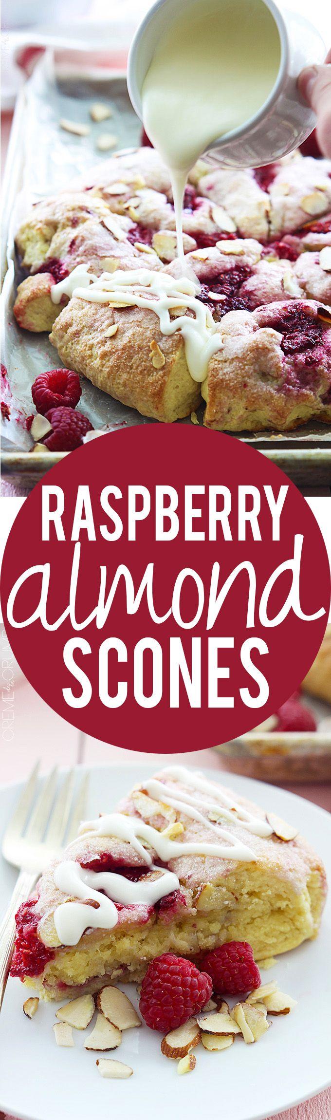 Raspberry Almond Scones | Creme de la Crumb