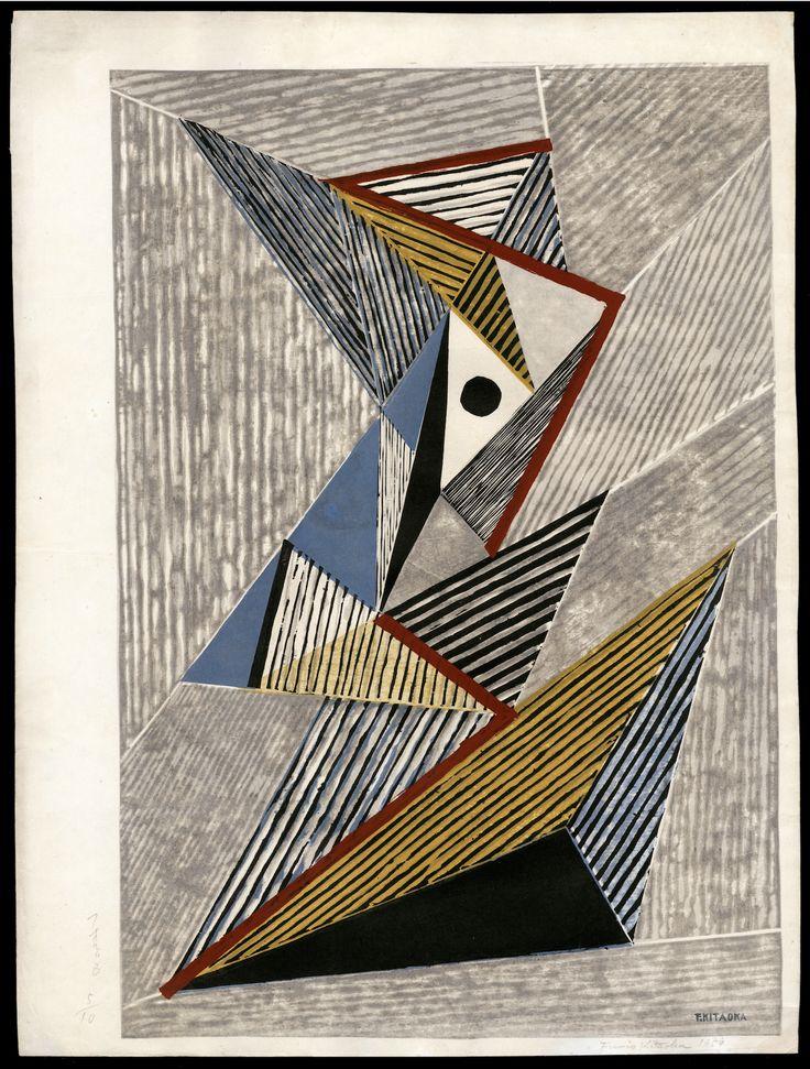 Fumio Kitaoka Abstract Work 5 10 Woodblock Print