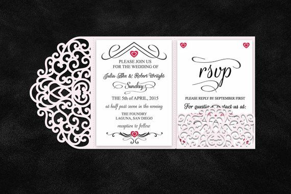 Tri Fold 5x7 Wedding Invitation Pocket Envelope Svg Template Etsy Tri Fold Wedding Invitations Pocket Wedding Invitations Wedding Invitation Envelopes
