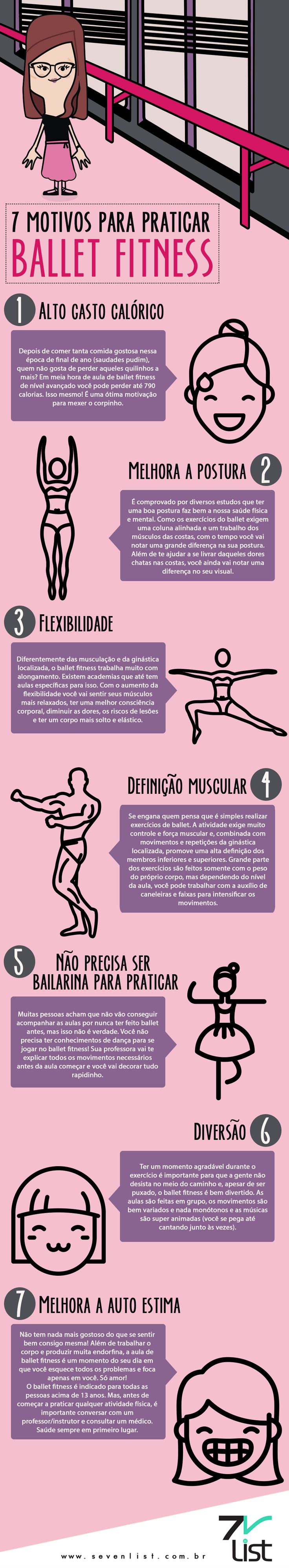 #Art #Infográfico #Desgin #SevenList #Dance #Dança #BalletFitness #Ballet #Balé #Workout #NewYear #Fit #Exercise #Ballet