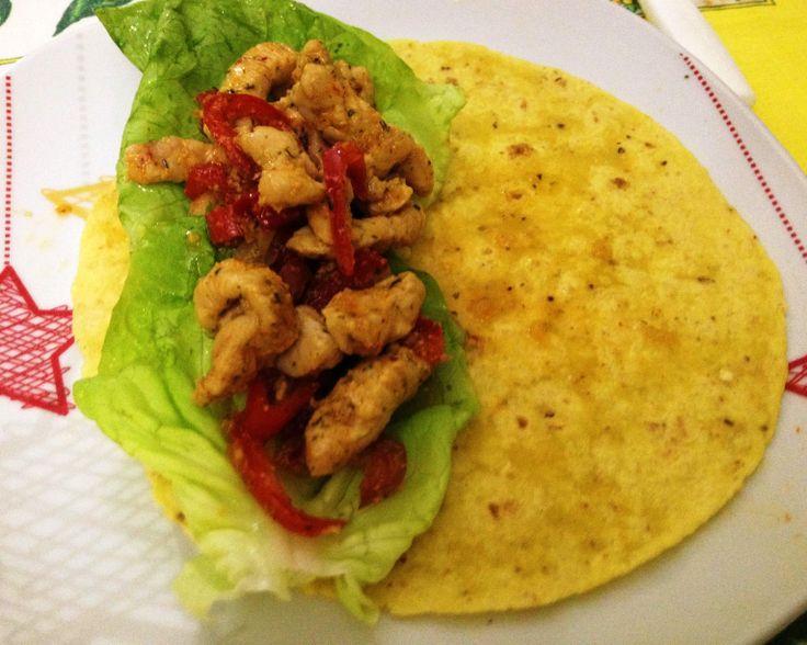 Fajitas di pollo , il Messico a casa !! ricetta step by step