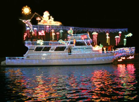 Marvelous Decorated Boats For Christmas | Cool Boat Decorated For Newport Beach  Christmas Boat Parade. #