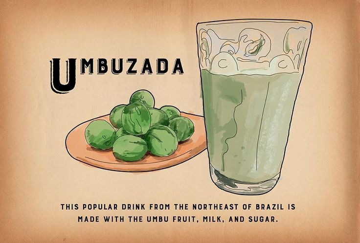 Umbuzada - This popular drink from the Northeast of Brazil is made with umbu fruit milk and sugar. #BrazilABC