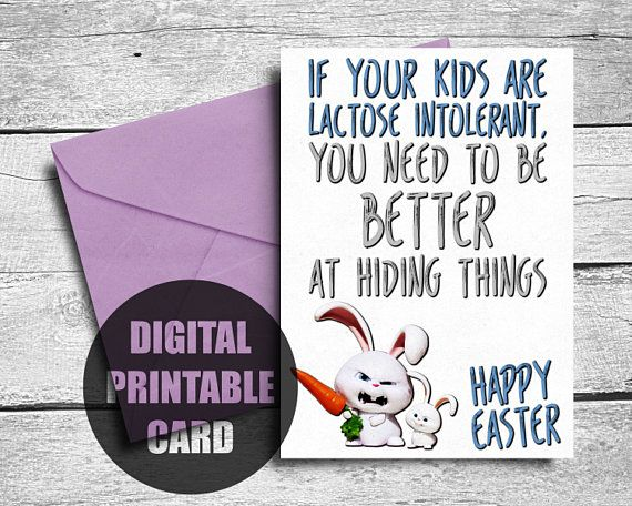 Funny Easter Card  Printable  Easter Card  Happy Easter