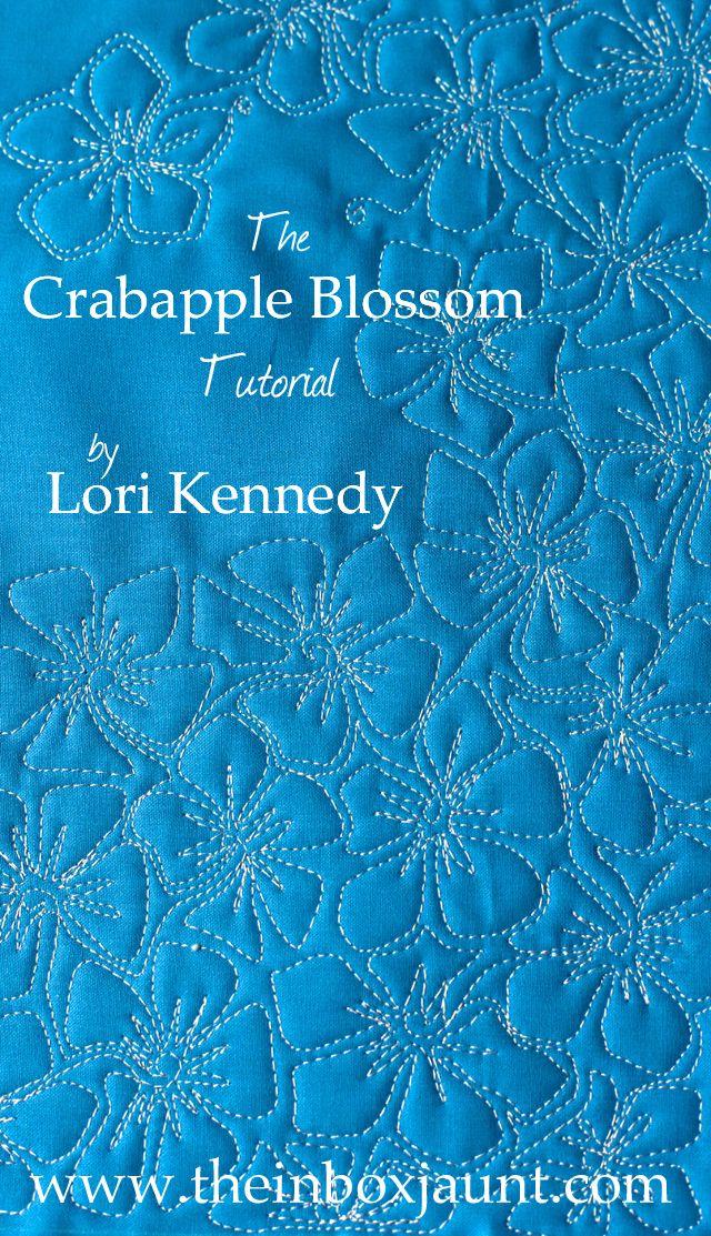 CrabappleBlossom Tutorial FREE today!  The Inbox Jaunt Great fill pattern!