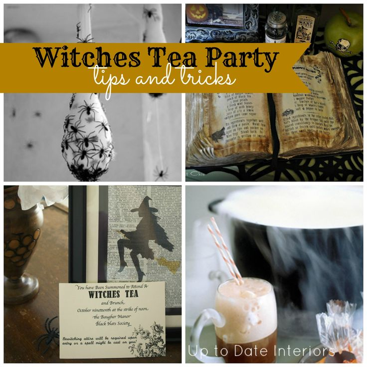 Happy Thursday!! No pre-k school tomorrow, wonder what the little monkey and I are gonna do… Hmmm, maybe pack for Disney World? YIPPEE!! But, before we do that, here are more tricks and tips for throwing a Witches Tea Party. Enjoy!  1. Witches brew What's a cauldron without smoke? Drop some dry ice into [...]