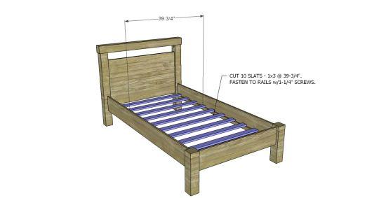 Best 20 twin platform bed frame ideas on pinterest twin bed frame wood king size bed frame - Simple twin bed frame plans ...