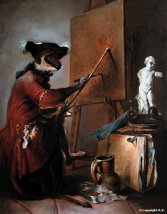 Jean Siméon Chardin :  Le singe peintre