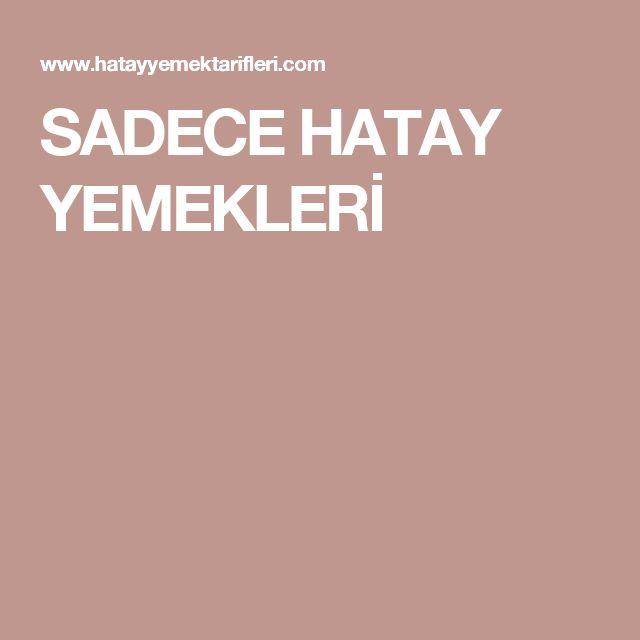 SADECE HATAY YEMEKLERİ