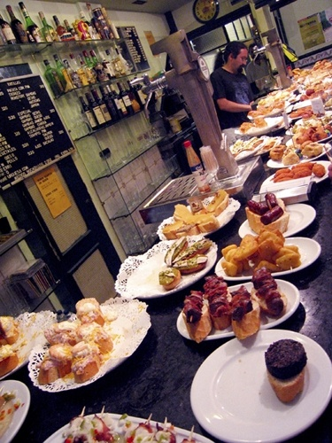 Pintxos in San Sebastian/Donostia. Some of the best food I have ever tasted.